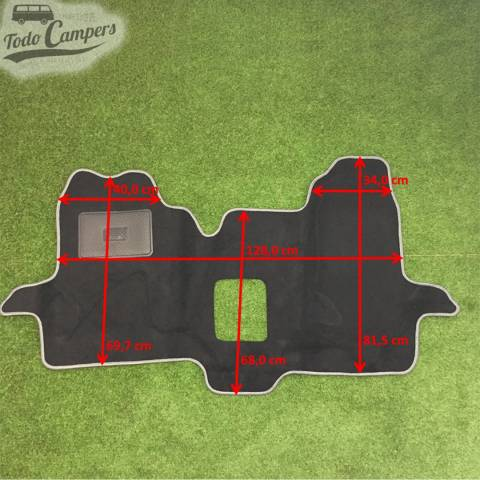 Plano de medidas de la Alfombrilla de cabina para Ford Transit 2000-06. Alfombrilla para tu Ford Transit 2000-06
