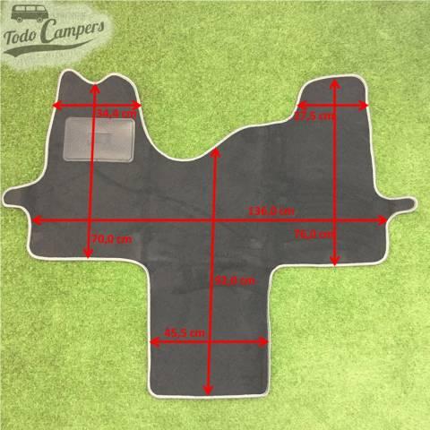 Plano de medidas de alfombrilla Ford Transit 07-13