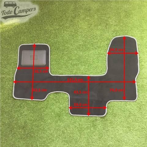 Plano de medidas de alfombrilla de cabina de furgonetas Iveco Daily 2000-2006