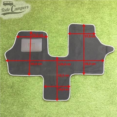 Plano de medidas de la alfombrilla de cabina de Mercedes Vito del 96-03