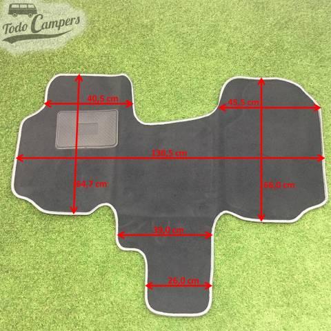 Plano de medidas de la Alfombrilla de cabina para Vivaro, Trafic, Primastar 02-14