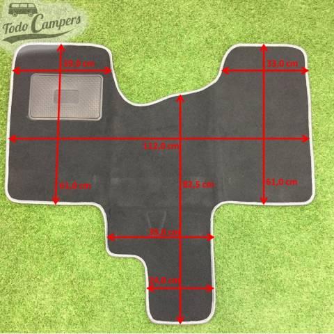 Plano de medidas de alfombrilla de Cabina para Chasis X82 (Trafic Vivaro Talento NV300 desde 2015)