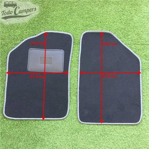 Plano de medidas de la alfombrilla de cabina para Renault Kangoo 97-07. Alfombrilla para tu Renault Kangoo