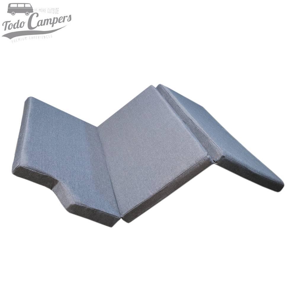 Colchón de espuma HR + Visco (3+3 cm) para VW California T5, T6 y T6.1 desde 2003 (mueble lateral) CHENILLA