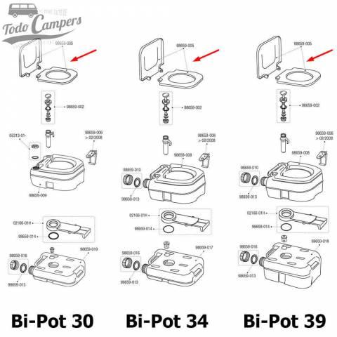 Tapa Bi-Pot (30, 34 y 39)