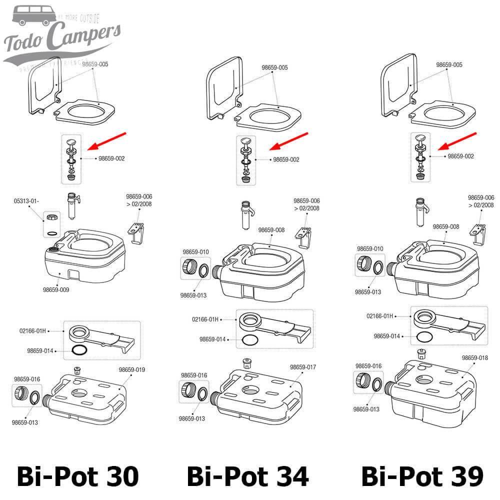 Pistón Bomba Bi-Pot (30, 34 y 39)