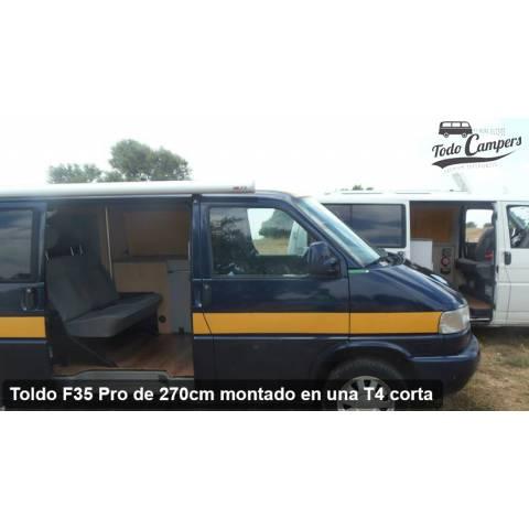 Facilidad en instalar toldo Fiamma para furgonetas