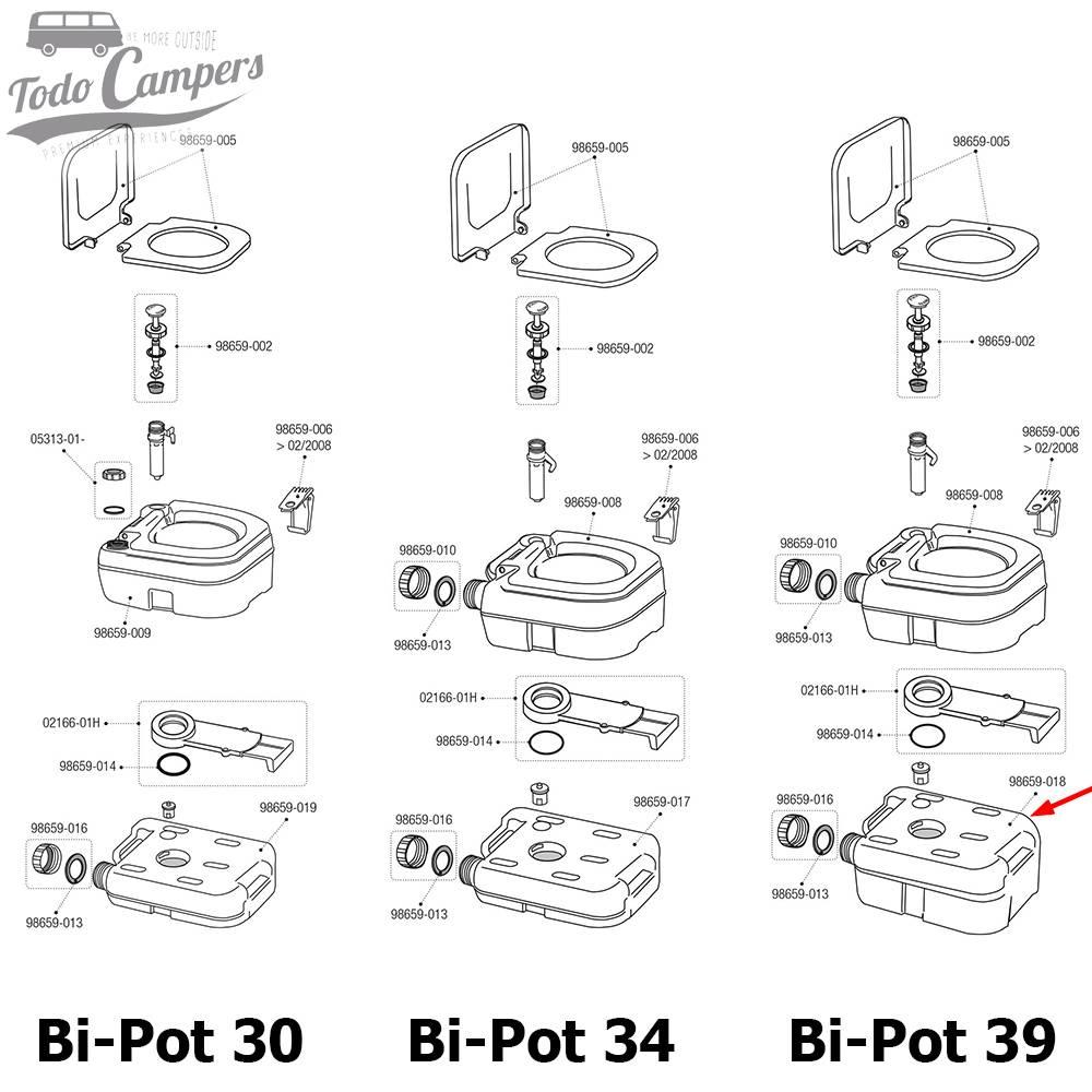 Depósito Inferior Bi-Pot 39