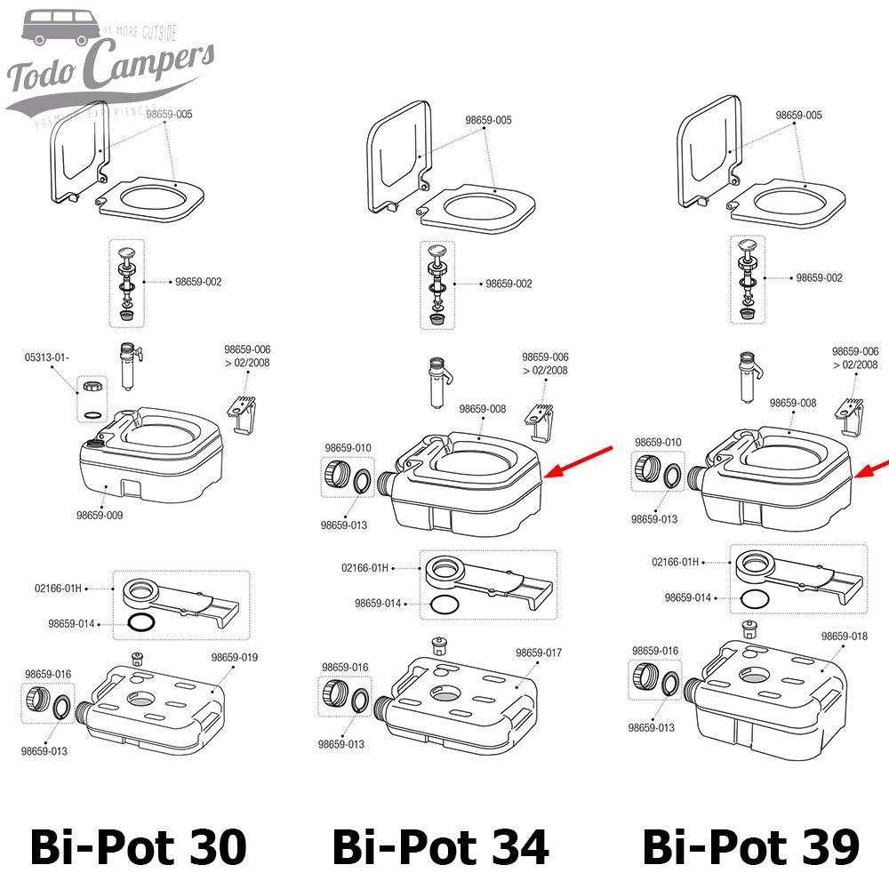 Depósito Superior Bi-Pot (34 y 39)