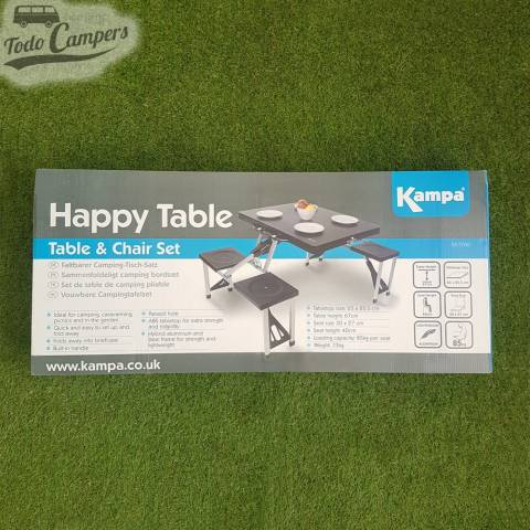 mesa plegable especial para campers
