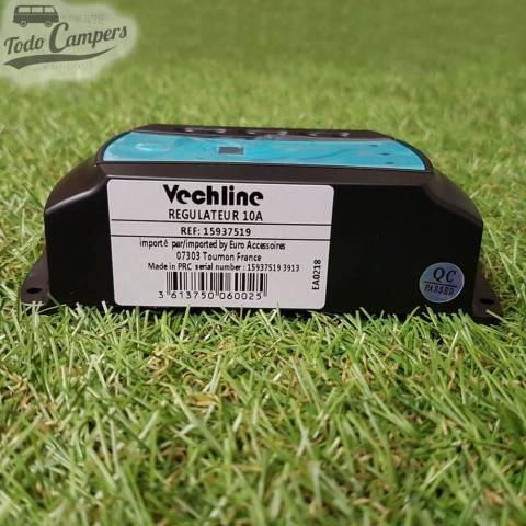 Etiqueta de especificaciones del regulador de carga solar Vechline 10A