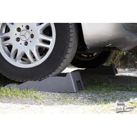 nivelar furgoneta o caravana con calzos