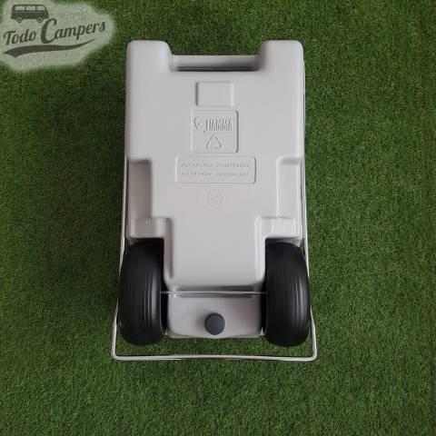 Depósito portátil aguas grises - 23 litros. Depósito aguas grises/negras para tu furgoneta, autocaravana o caravana