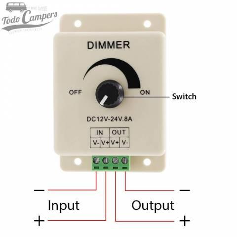 Croquis de uso de Dimmer para controlar LEDs.