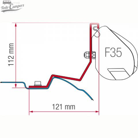 Soporte Toldo Fiamma F35 Pro - Mercedes Vito Viano y Clase V desde 2004