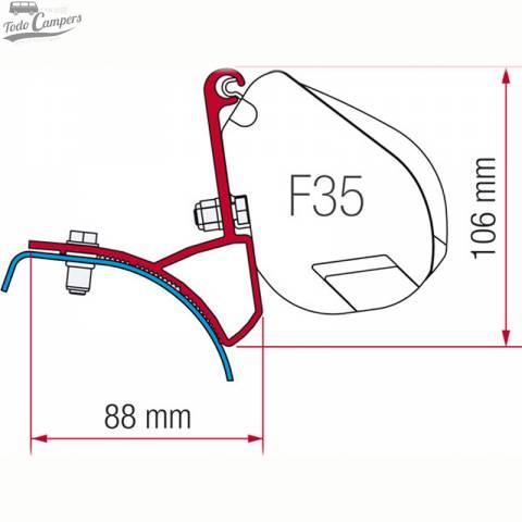 Soporte Toldo Fiamma F35...
