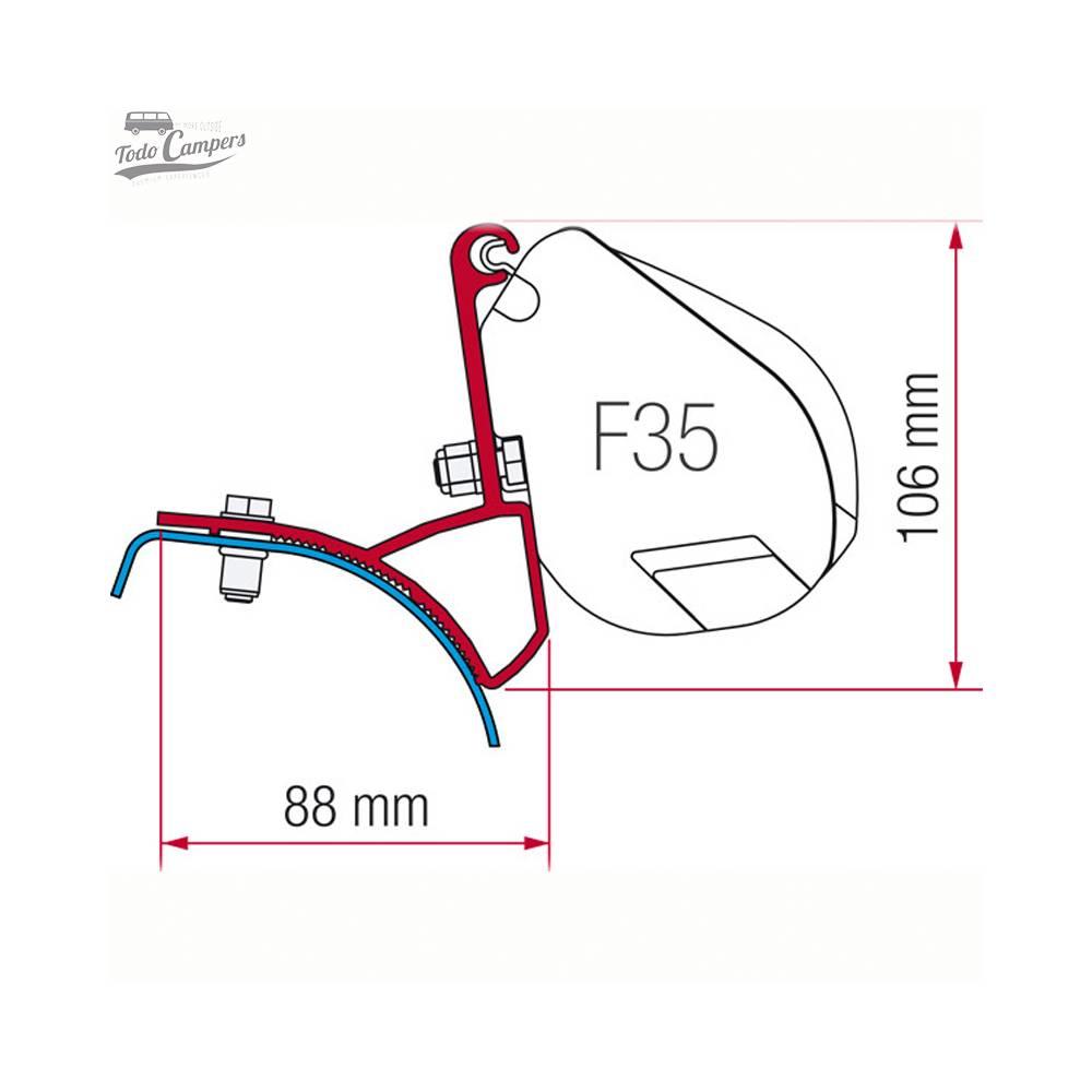 Soporte Toldo Fiamma F35 Pro Trafic Vivaro Primastar 2002-2014