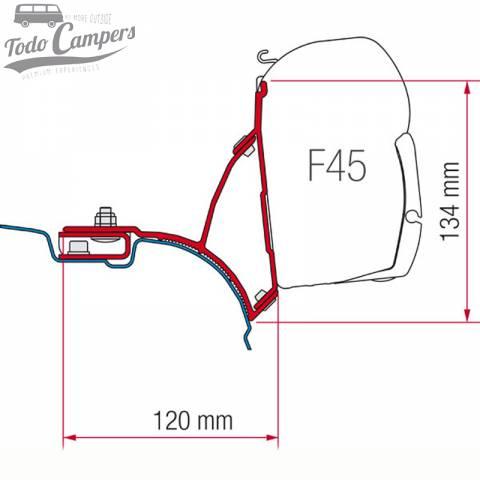 Medidas Soporte para toldo Fiamma F45s para Volkswagen T5 y T6