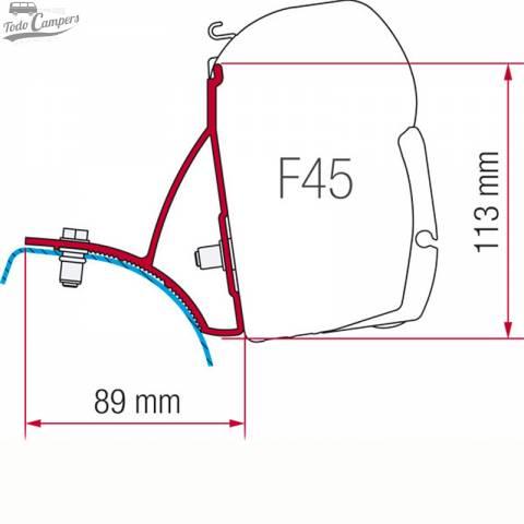 Medidas soporte Toldo Fiamma F45s Trafic Vivaro Primastar 2002-2014