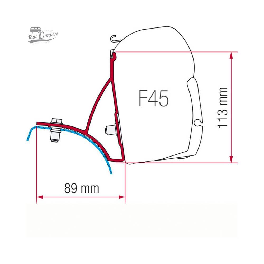 Soporte Toldo Fiamma F45s Trafic Vivaro Primastar 2002-2014