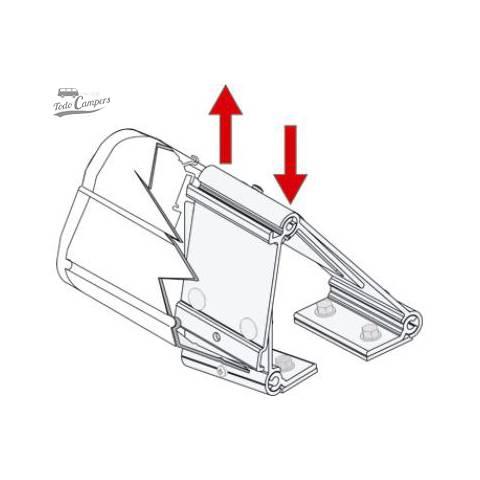 Instrucciones para la correcta aplicación del soporte de Toldo Fiamma F45s Trafic Vivaro Primastar 2002-2014