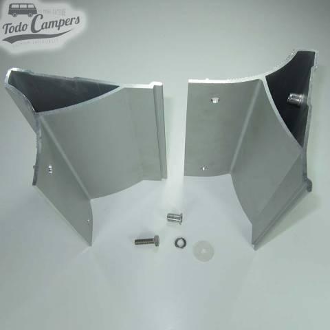 Vista superior de las piezas que incluye el soporte de toldo Fiamma F45s Trafic Vivaro Primastar 2002-2014