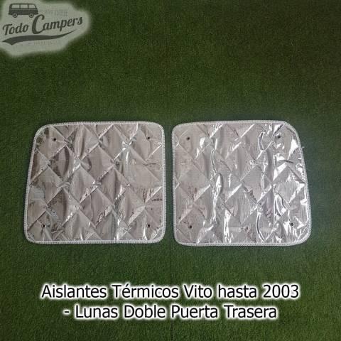 aislante termicos para furgonetas luna doble puerta trasera mercedes vito 1996