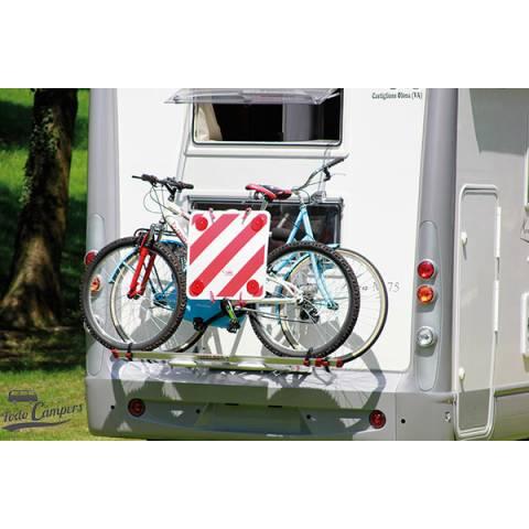 Necesario para señalizar tus bicicletas cuando están montadas en el portabicicletas de furgoneta, autocaravana o caravana