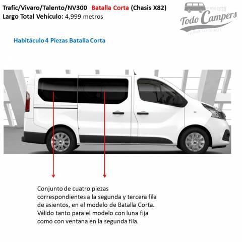 habitaculo 4 piezas batalla corta oscurecedores termicos trafic vivaro nv 300 2015