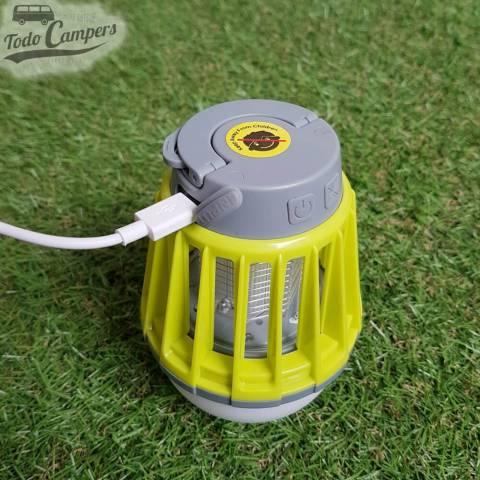 Lámpara anti-mosquitos con cargador USB