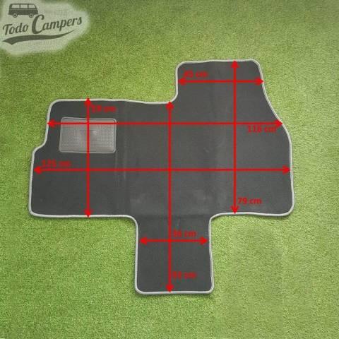 Plano de medidas de la Alfombrilla de cabina para Ducato, Jumper y Boxer 02-06. Alfombrilla para tu furgoneta