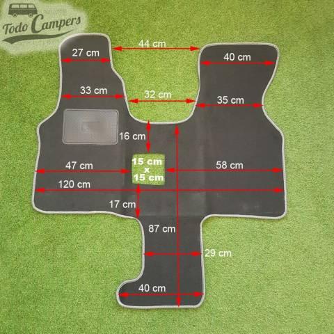 Plano de medidas de Alfombrilla para VW T4. Alfombrilla para tu Volkswagen T4