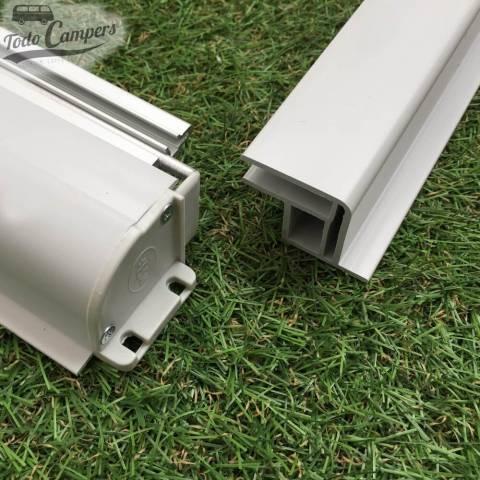 Oscurecedor-Mosquitera NRF Blind Flyscreen - Detalle conector tambor y lateral