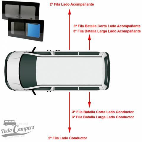 Modelos disponibles de ventanas correderas para Volkswagen T5 y Volkswagen T6