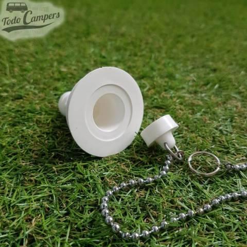 Desagüe recto - Salida 19 mm, Tipo B - Tapón de agua con cadena aparte