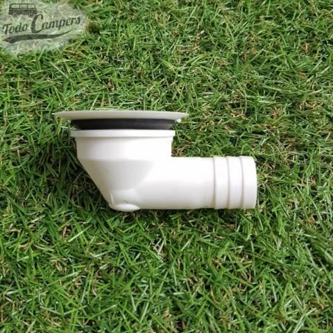 Desagüe en codo - Salida 19 mm, Tipo B - Vista Lateral