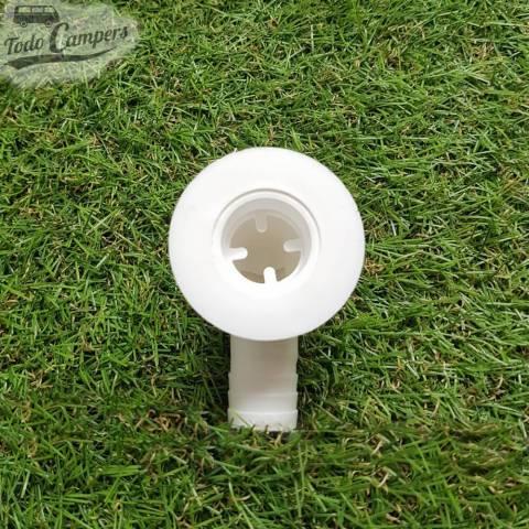 Desagüe en codo - Salida 19 mm, Tipo B - Vista Superior