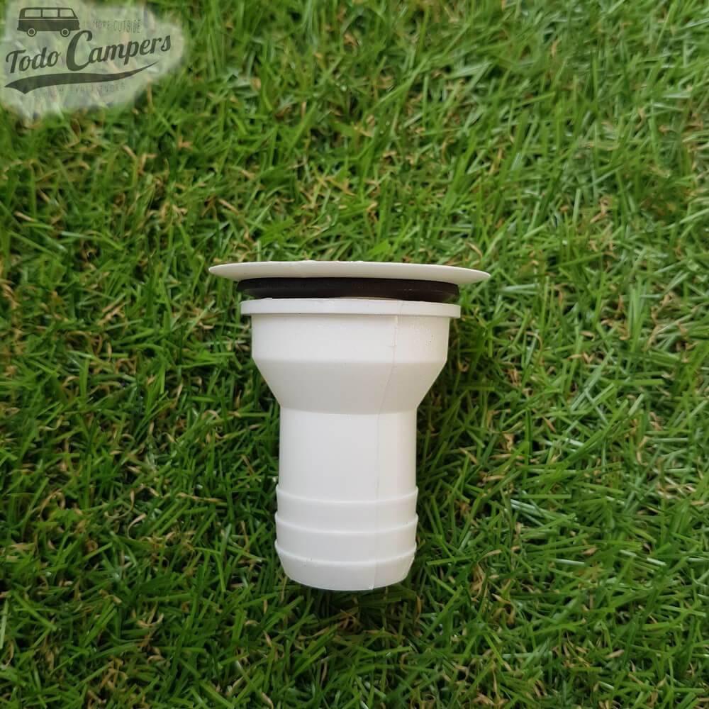 Desagüe recto - Salida 25 mm, Tipo B - Vista lateral
