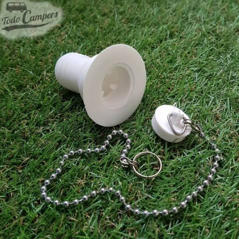 Desagüe recto - Salida 25 mm, Tipo B - con tapón de agua a un lado y cadena