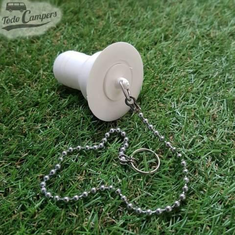 Desagüe recto - Salida 25 mm, Tipo B - con tapón de agua puesto y cadena