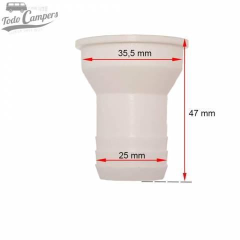 Desagüe recto - Salida 25 mm, Tipo B - Medidas
