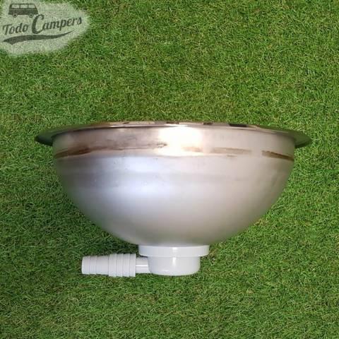 Fregadero Redondo Reimo semi-esfera 300x130 con desagüe