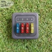 Módulo 4 fusibles con Marco - Color Gris Oscuro