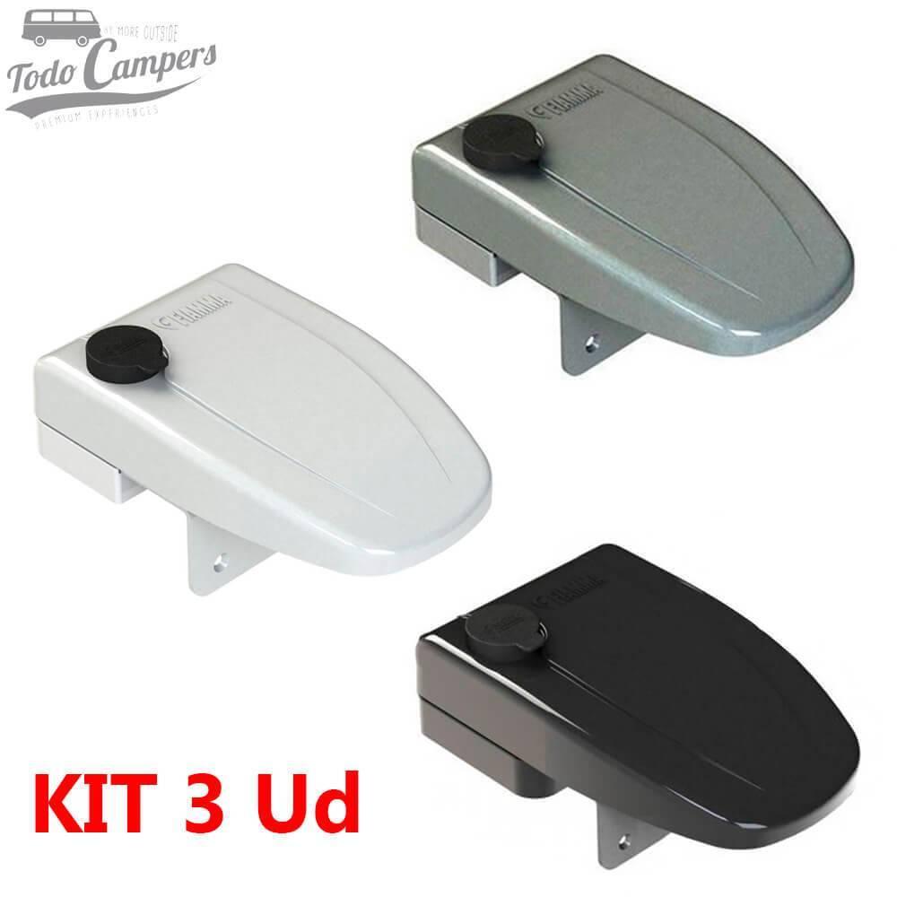 Fiamma Safe Door Frame Blanco, Gris o Negro (color a elegir) - Kit 3 ud One Key System