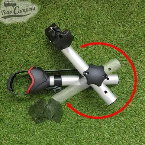 Ángulo de rotación del brazo Bike Block Pro S D1. Portabicicletas para furgonetas, autocaravanas o caravanas