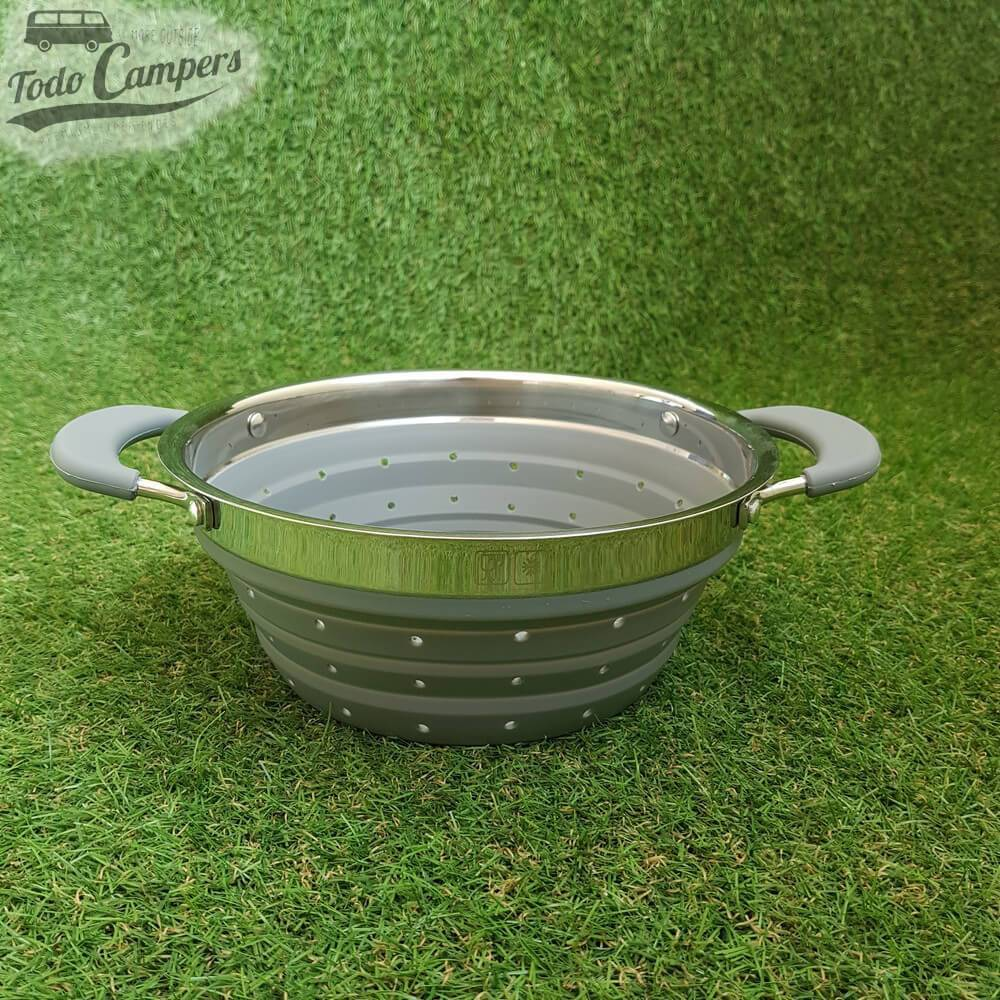 Colador / Escurridor Plegable 20x20x9,5 cm color gris accesorios camper