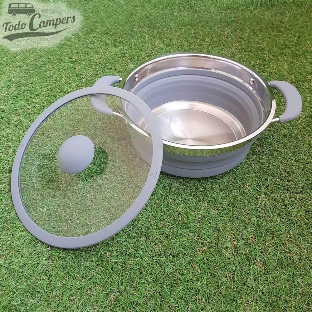 Olla plegable 1,5 litros (color gris)