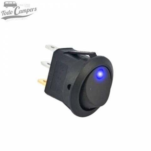 Interruptor unipolar 12V led azul