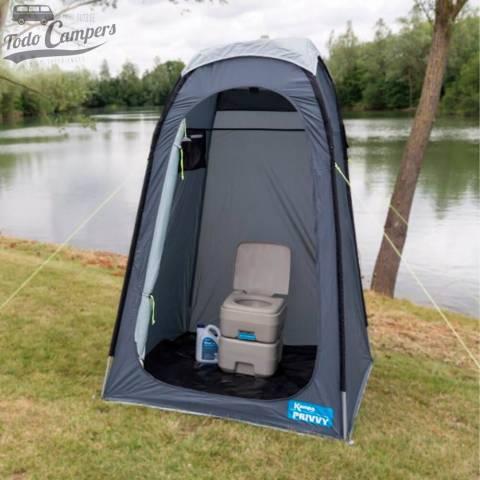 Cabina multiusos utilizado para WC. Tienda portátil multiusos para tu furgoneta camper, autocaravana o caravana