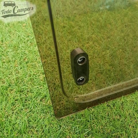Cristal compatible Ventanas Dometic Seitz S3, S4 y S5 - Detalle Esquina por dentro